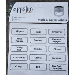 45 x Herb and Spice Labels Self Adhesive Vinyl Washable