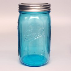4 x Ball Collection Elite BLUE Jars - Wide Mouth Quart/ 32oz