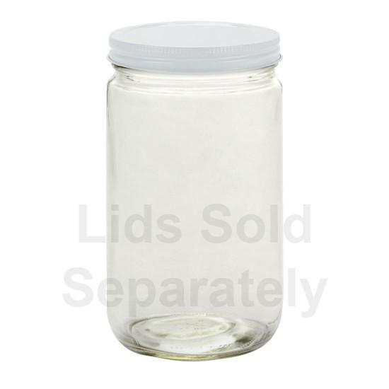 12  x 32oz Quart Straight Sided Jars Bell Mason - Lids not included