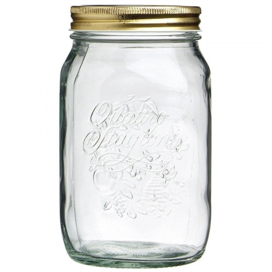 1 Litre Bormioli Rocco Quattro Stagioni Preserving Jar