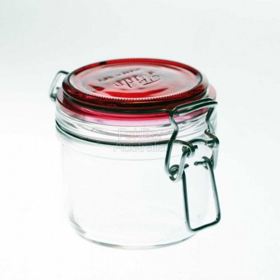 125ml RED Bormioli Rocco Fido Swing Top Preserving Jar with Red Lid