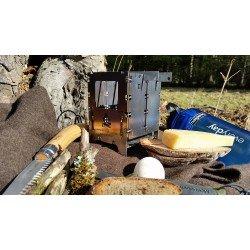Bushbox LF Large Foldable Outdoor Titanium Cooking Stove