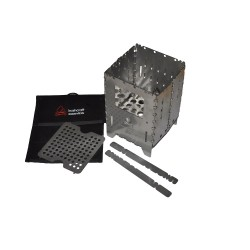 Bushbox XL  Outdoor Stainless Steel Cooking Stove Professional Set