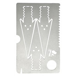 Survival Card with Arrows, Knife and Saw Blade