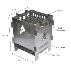 Bushbox Outdoor Stainless Steel Cooking Stove
