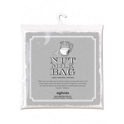 100% cotton set of 2 nut milk bags