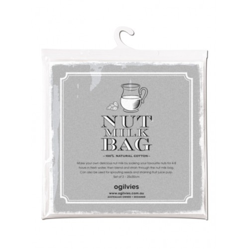 100 cotton set of 2 nut milk bags