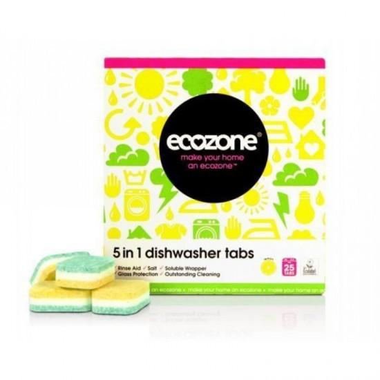 25 x Ecozone Eco Friendly Natural Dishwasher Tablets Cleaning Washing
