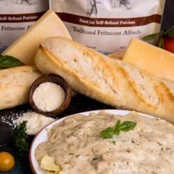 Traditional Fettuccine Alfredo Up to 25 Year Shelf Life Emergency Food