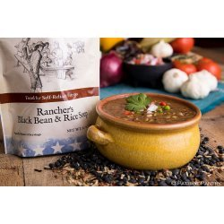 Rancher's Black Beans and Rice Soup Up to 25 Year Shelf Life Emergency Food