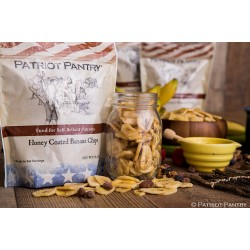 Sweetly Coated Banana Chips Up to 25 Year Shelf Life Emergency Food