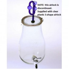 2.5 Litre Weck Fermenting Glass Jar With Airlock and Plastic Tap Kefir Kombucha