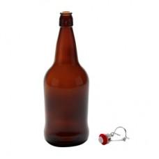 Quart /32oz/ 950ml EZ Amber Flip Top Grolsch Style Beer Fermenting Bottle
