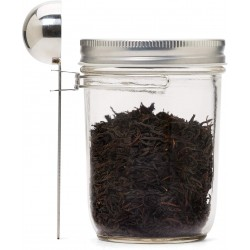 Metal Mason Jar Coffee Scoop Wide Mouth Stainless Steel