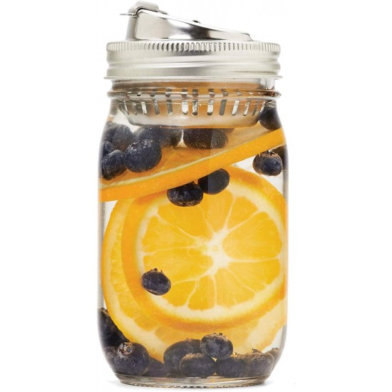 Drink and Fruit Infusion Lid for Regular Mouth Jars