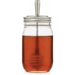 Metal Mason Jar Honey Dipper Lid Regular Mouth Stainless Steel