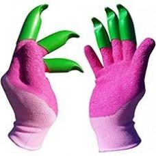 """Honey Badger Digging Gloves Latex Female Pink 7"""" / 18cm"""