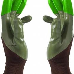 Honey Badger Digging Gloves Green Nitrile 8