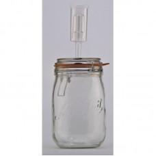 1 Litre Le Parfait Super Fermenting Jar With Fermenting Lid