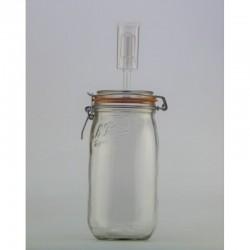1.5 litre Le Parfait Fido Fermenting Jar With Fermenting Airlock Lid