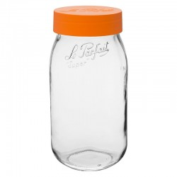 2000ml Le Parfait Storage Jar with Orange Screwtop Lid