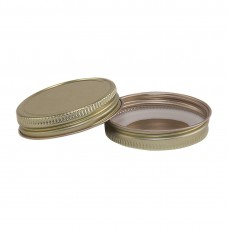 48mm SCREW TOP  CT Tin Lid with Food Safe Lining One Piece GOLD