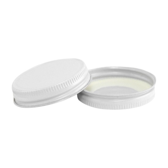 48mm Screw Top CT Tin Lid with Food Safe Lining One Piece