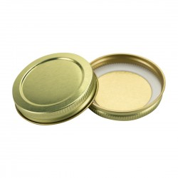 58mm SCREW TOP  CT Tin Lid One Piece GOLD
