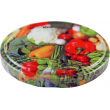 70mm Twist Top Lids with Vegetable Pattern High Heat