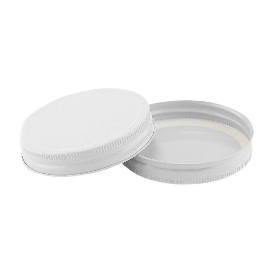 Lid One Piece WIDE Mouth 86mm Canning High Temp WHITE