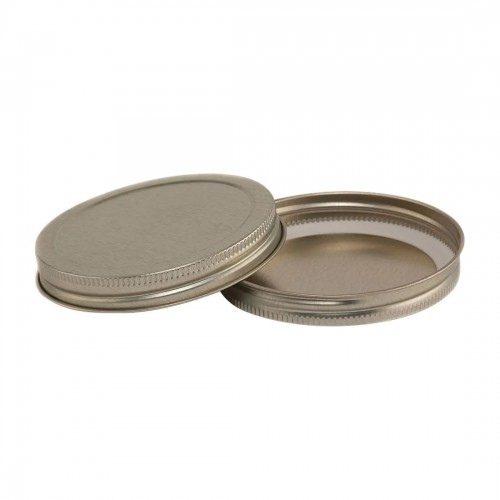 89mm SCREW TOP  CT Tin Lid with Food Safe Lining One Piece