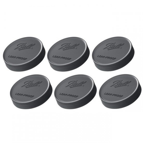 Ball REGULAR Mouth Leak-Proof Storage Lids Pack of 6