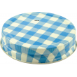 Lid One Piece High Temp Regular Mouth Blue Check