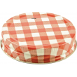 Lid One Piece High Temp Regular Mouth Red Check