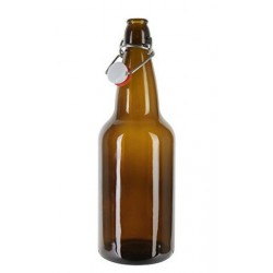 1 x 750ml Amber Flip Top Beer Fermenting Bottle SINGLE