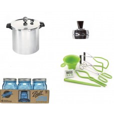 Presto Canner Starter Kit with 23 Quart canner, 6 jars and Canning Accessories Kit