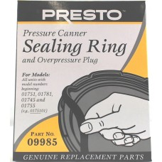 Presto Pressure Canner sealing rubber gasket and overpressure plug