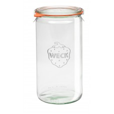 1 x 1.5 Litre Cylinder Jar Complete  - 974 Weck
