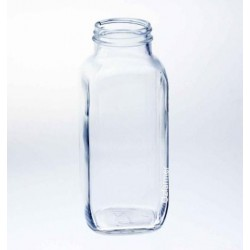 1 x 16 oz Dairy French Square Bottle Bell SINGLE (Lid not included)