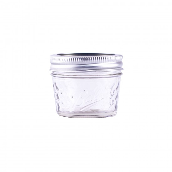 1 x 4oz Quilted Jam Jar and Lid Ball Mason SINGLE
