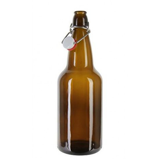 1 x 500ml Amber Flip Top Grolsch Style Beer Fermenting Bottle SINGLE