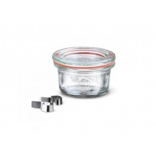 1 x 50ml Mini Tapered Jar Complete  - 755 Weck