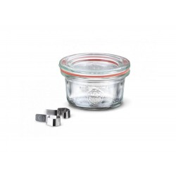 1 x 50ml Mini Tapered Jar Complete  - 755 Weck