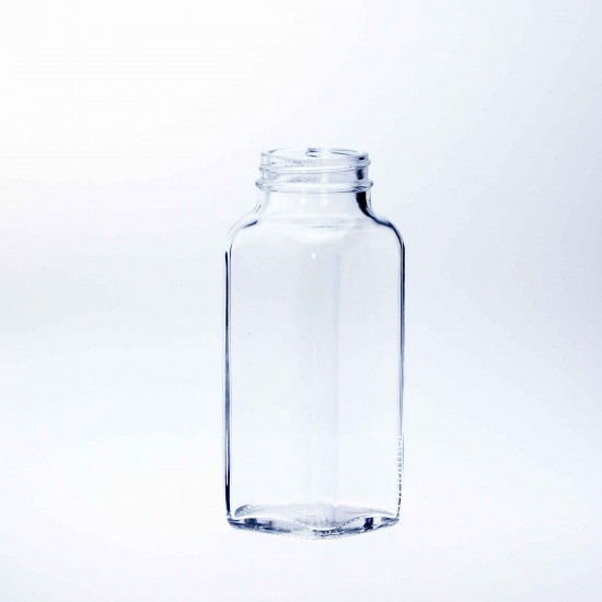 1 x 8oz Dairy French Square Graduated Bottle Bell SINGLE (Lid not included)