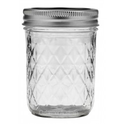 1 x 8oz Quilted Half Pint Jar Ball Mason SINGLE