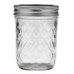 1 x 8oz Quilted Half Pint Jar Ball Mason SINGLE
