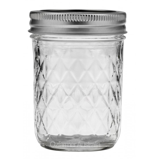 Quilted Half Pint Ball Mason Jar