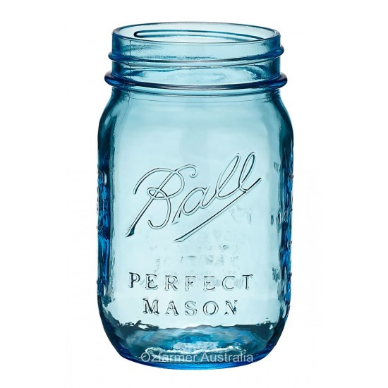 1 x  Blue Pint 475ml Jar Ball Heritage Collection SINGLE