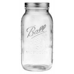 1 x Half Gallon 64oz Wide Mouth Jar and Lid Ball Mason SINGLE