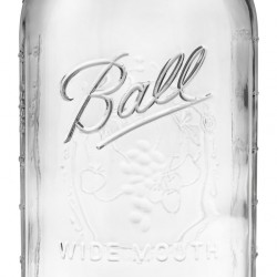 1 x Half Gallon 64oz Wide Mouth Jar and Lid Ball Mason SINGLE